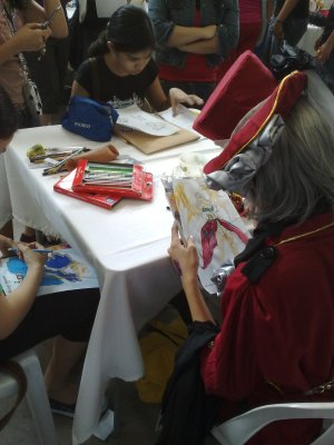 I never thought of participating in a drawing contest while in cosplay