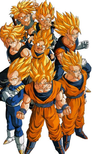 Super Saiyans >>> Super Heroes (in the Western tradition)