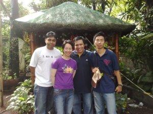"Nim, Waifu, ghostlightning, Koichi @ our backyard ""bahay kubo"""