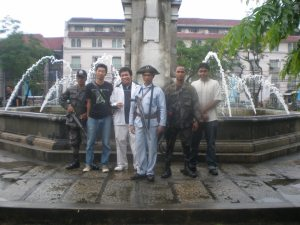 In Intramuros, with the Guardia Civil both old and new