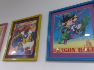 Framed on the offices that have been in the Philippines since 1986 (note awesome JEEG image framed on the left)