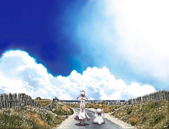 aria-akari-aria-sachou-blue-sky