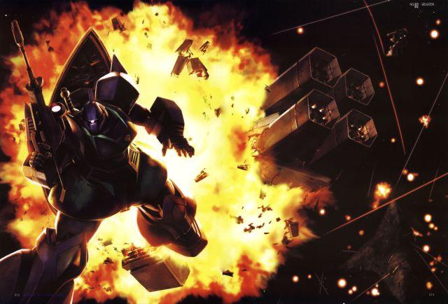 gundam-mecha-gelgoog-explosion
