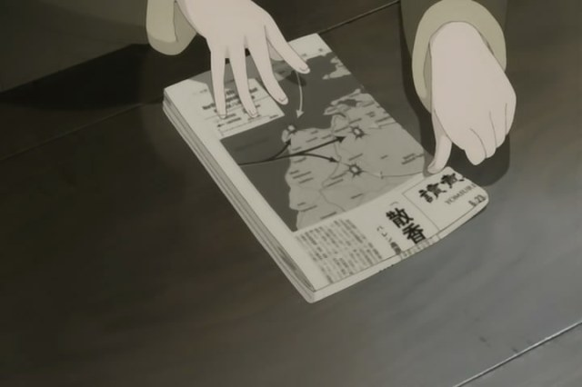 sky crawlers chekov's newspaper