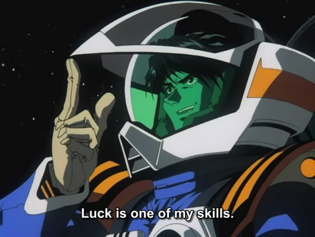 macross plus isamu dyson luck is one of my skills