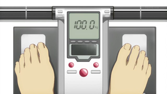 bakemonogatari 02 weighing scale 100kg