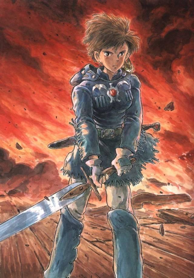 nausicaa sword fire background