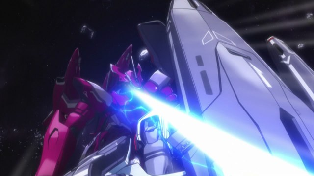 macross frontier 09 vf-27 shot at by vf-25g while grappling with vf-25f