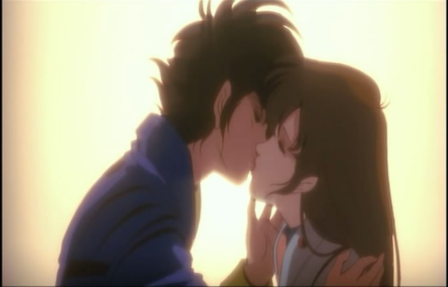 macross do you remember love hikaru misa kiss