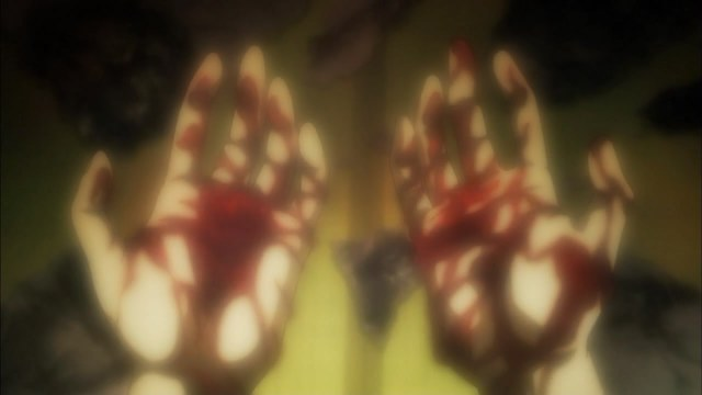 aoi bungaku 02 youzo's hands are stained with blood