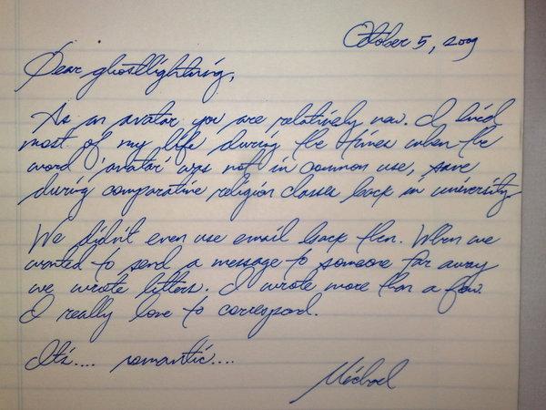 ghostlightning letter