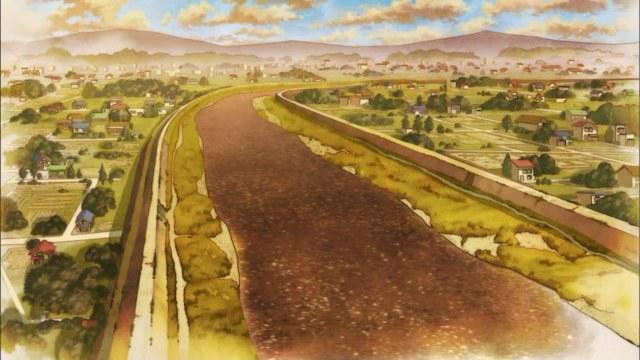 kimi ni todoke 02 suburban landscape river