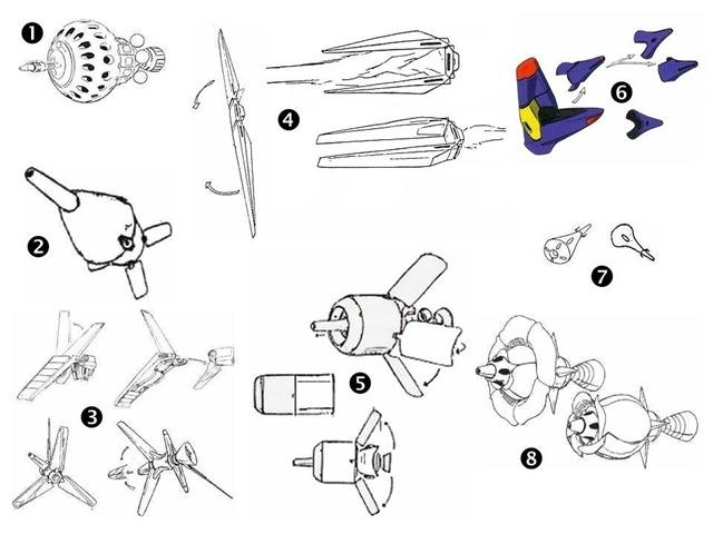 Image result for funnel gundam types