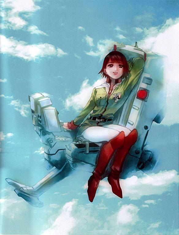 gundam ecole du ciel asuna elmarit cockpit in sky