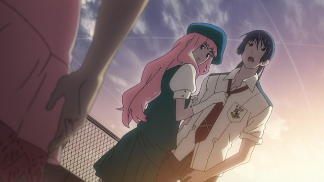 macross frontier 19 sheryl and alto caught together by ranka