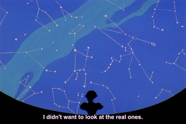 utena 33 anthy looking at unreal stars