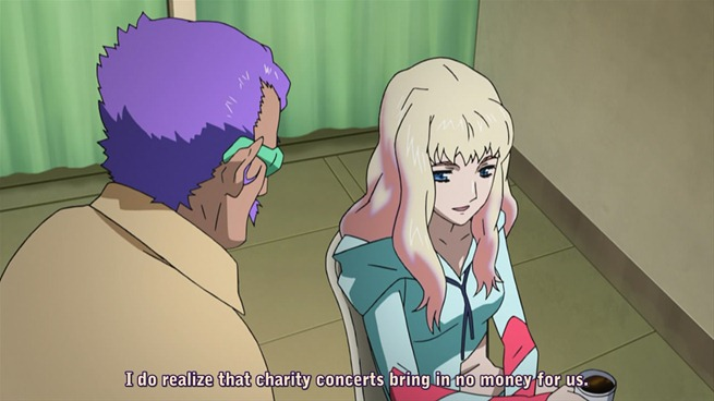macross frontier 22 sheryl elmo charity concert discussion
