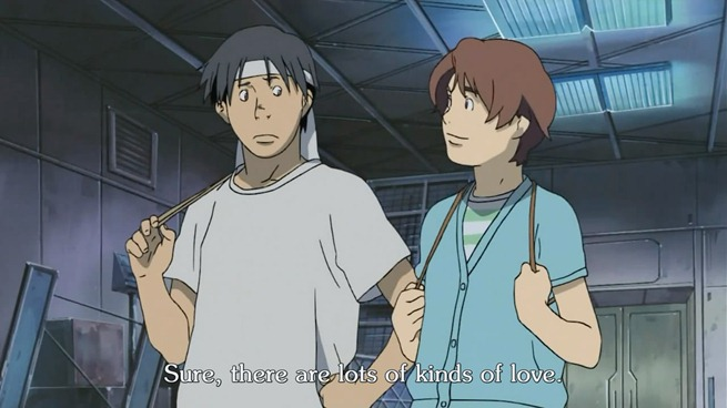planetes 26 hachimaki tanabe lots of kinds of love