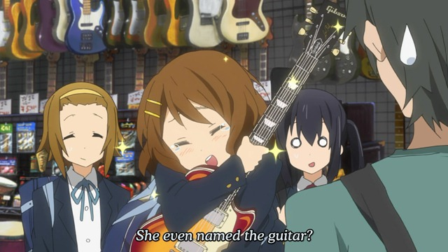 k-on 11 yui named gitah
