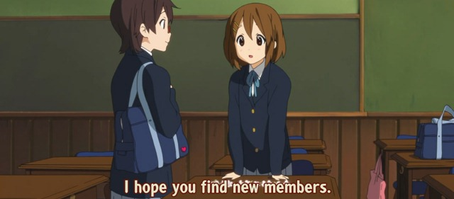 k-on s2 01 nodoka yui hope you find new members