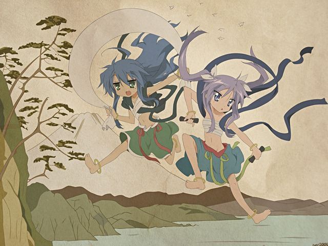 lucky star gods and spirits konata kagami
