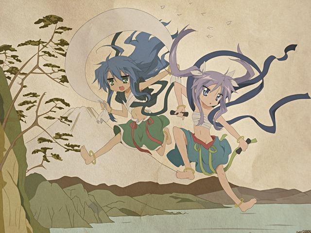 lucky star gods and spirits konata kagami