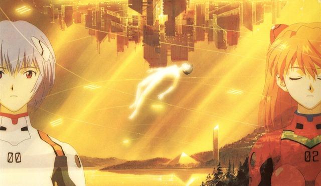 neon genesis evangelion geofront rei shinji asuka