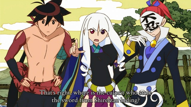 katanagatari 07 VN dialogue screen togame shichika