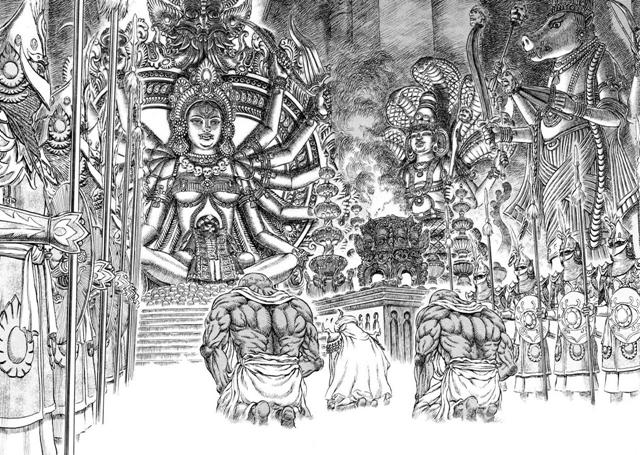 berserk kushan chamber of idols