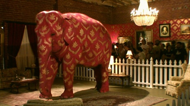 banksy hollywood show elephant in the room