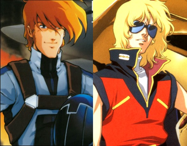 Roy Focker is in Z Gundam played by Char Aznable