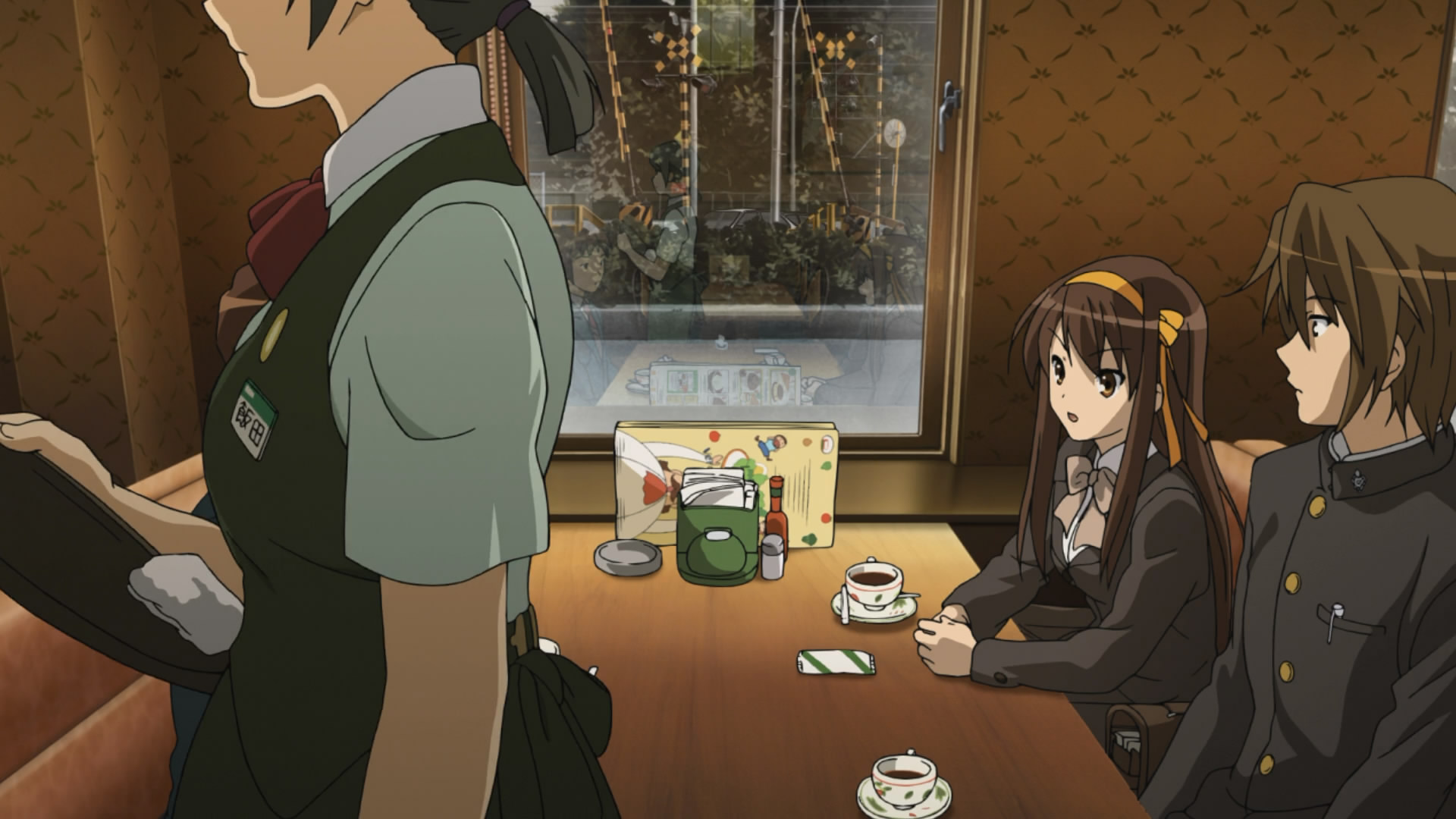 Moments In Anime 2010 When God Is Away Kyon Wont Pray Kyons Threat The Disappearance Of Haruhi Suzumiya
