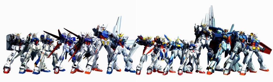 gundam lineup suits