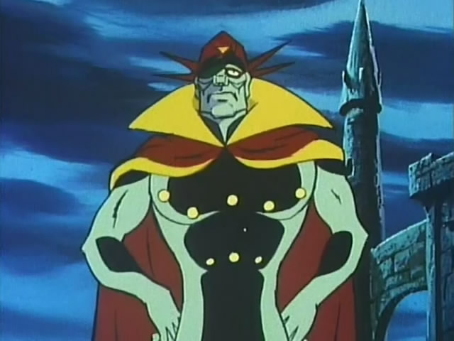 "Braiking Boss, the main villain in the Japanese cartoon ""Casshern"""
