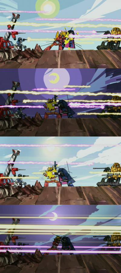 panty & stocking 07 transformers parody endless battle without casualties