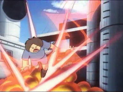 Voltes V doesn't faff about when showing kids getting killed by evil giant robots