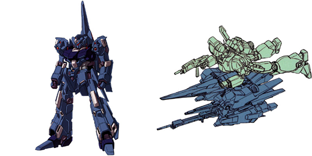 gundam unicorn rgz-95 rezel with jegan