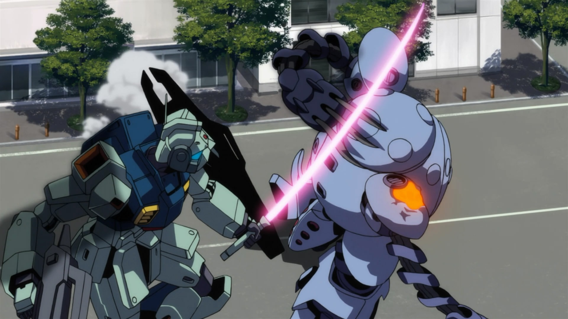 unicorn gundam first fight in a relationship