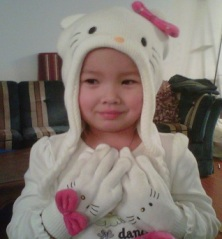 My Daughter with her Hello Kitty