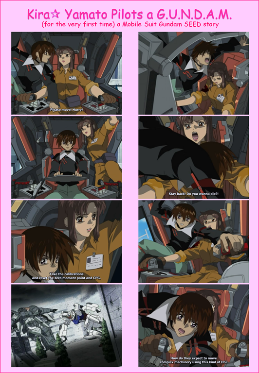 mobile suit gundam seed 02 kira yamato pilots for the first time murrue ramius done by ghostlightning