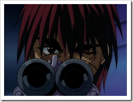 Gene looking down the barrell Outlaw Star