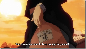 Nazo no Kanojo Mysterious Girlfriend X Shoe Locker URabe Thigh