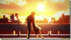 Nazo no Kanojo Mysterious Girlfriend X Tsubaki Urabe Hug in the Sunset