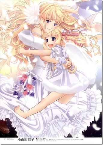 moe 180394 dress koyama_kariko macross macross_frontier sheryl_nome wings